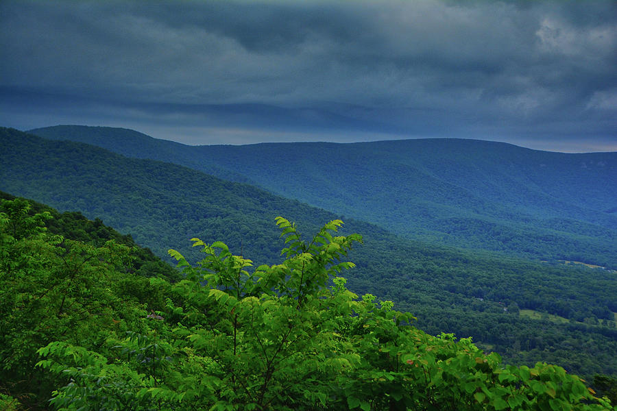 Storm Approaches Shenandoah National Park from Jenkins Gap by Raymond Salani III