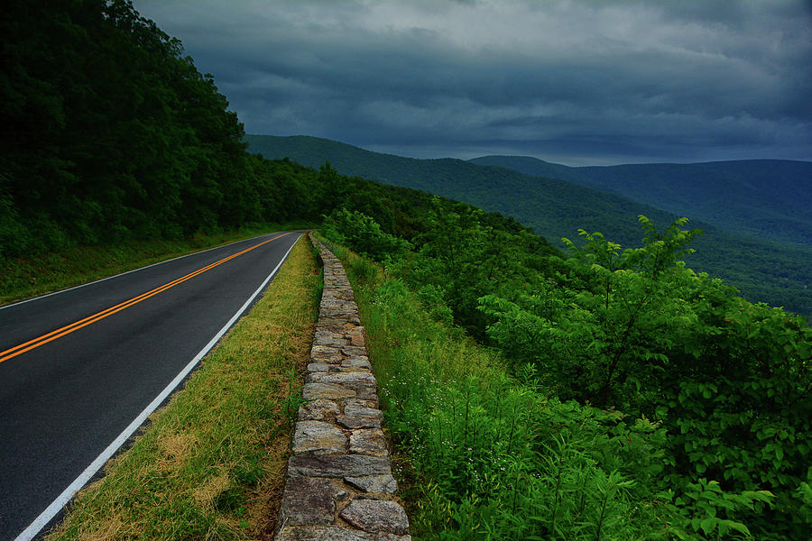 Storm Arrives at Shenandoah National Park by Raymond Salani III
