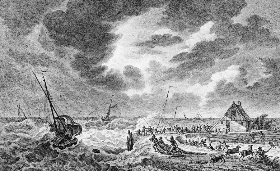 Storm At Sea Photograph by Hulton Archive
