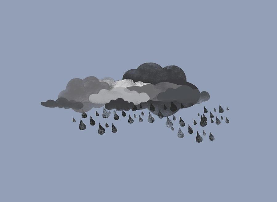 Thunderstorm Digital Art - Storm Clouds And Rain by Jutta Kuss
