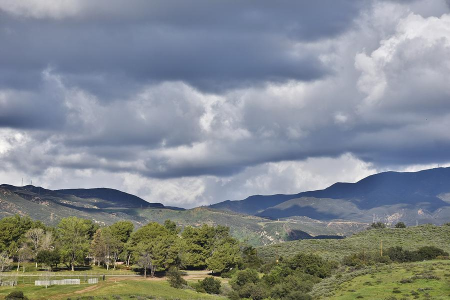 Storm Clouds from Santiago Canyon Road IX by Linda Brody