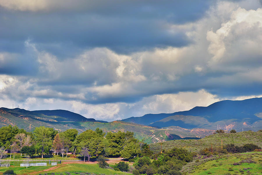 Storm Clouds from Santiago Canyon Road IX with Color Saturation by Linda Brody