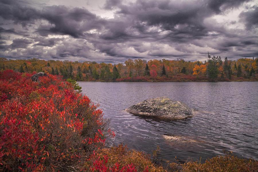 Storm Clouds Over Stillwater Lake by Irwin Barrett