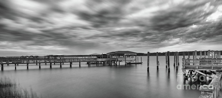 Storm Clouds over the Wando River - Rivertowne on the Wando by Dale Powell