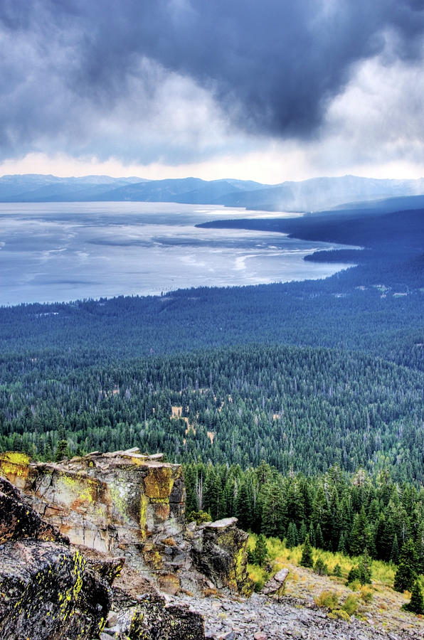 Storm Clouds Roll In Over Lake Tahoe In Photograph by Rachid Dahnoun