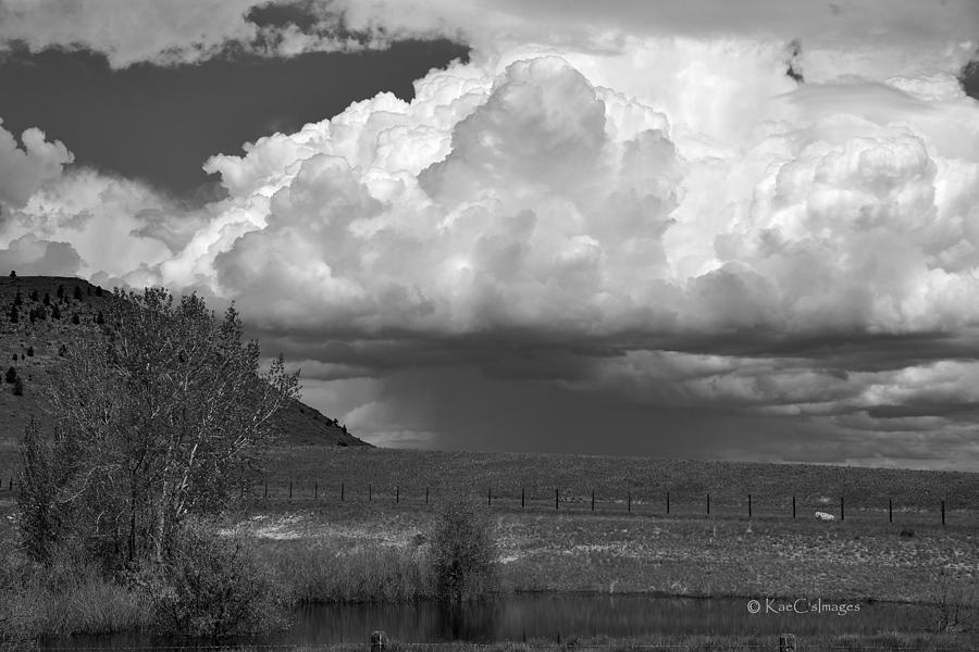 Storm Coming In Black and White by Kae Cheatham