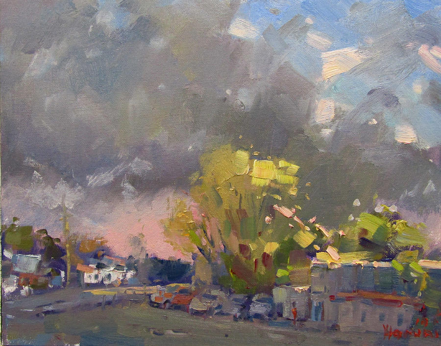 Storm Painting - Storm Is Approaching by Ylli Haruni
