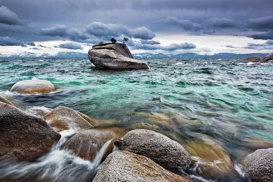 Storm, Lake Tahoe Photograph by Ropelato Photography; Earthscapes