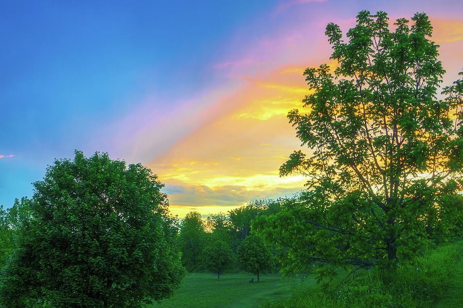 Storm Meets Sunset Beautiful Light by Jason Fink