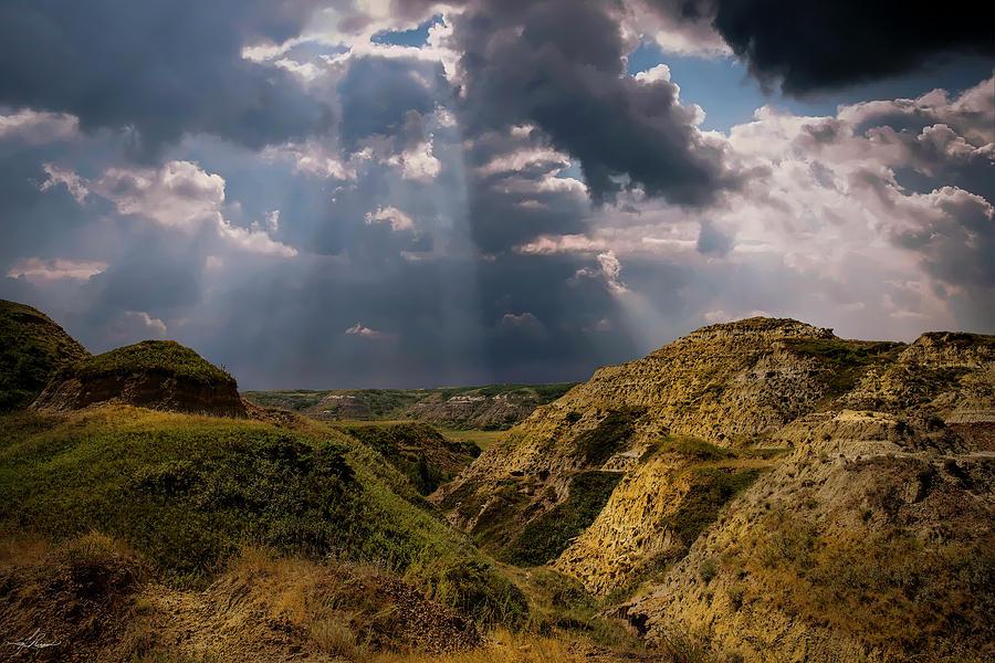 Storm Over The Alberta Badlands Photograph
