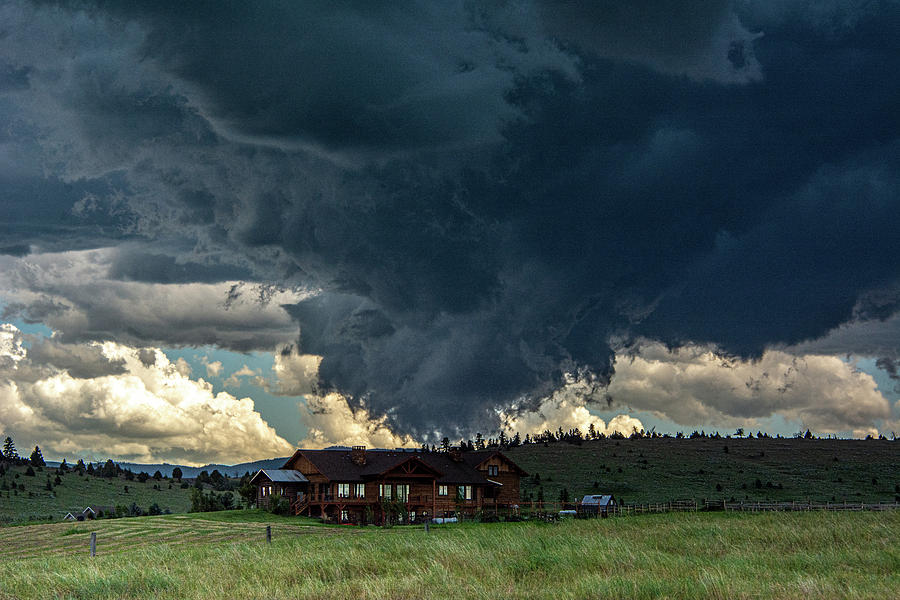 Storm Over the Gallatin by Douglas Wielfaert