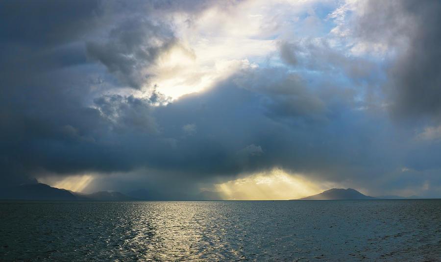 Storm over the sea by Michele Cornelius