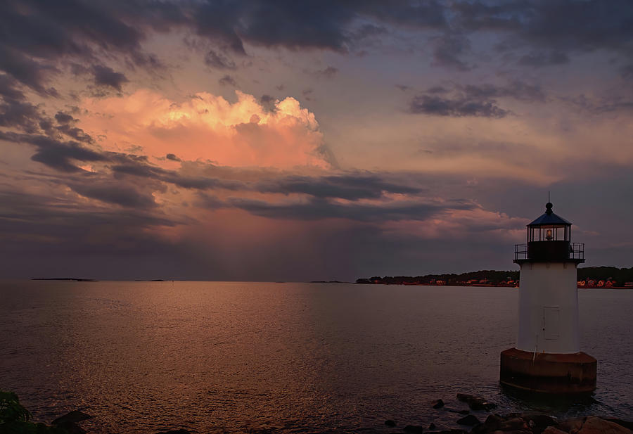 Storm passing Pickering Lighthouse by Jeff Folger