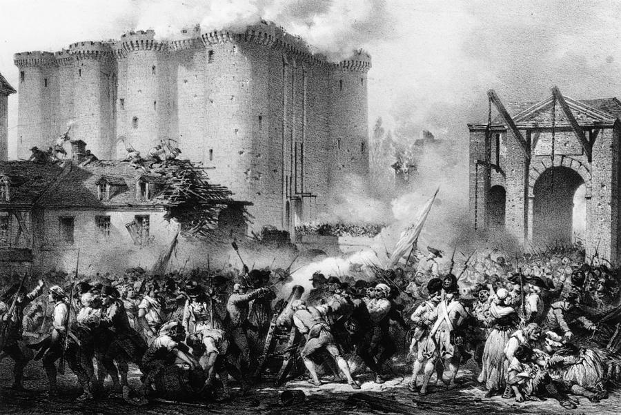 Storming The Bastille Photograph by Hulton Archive