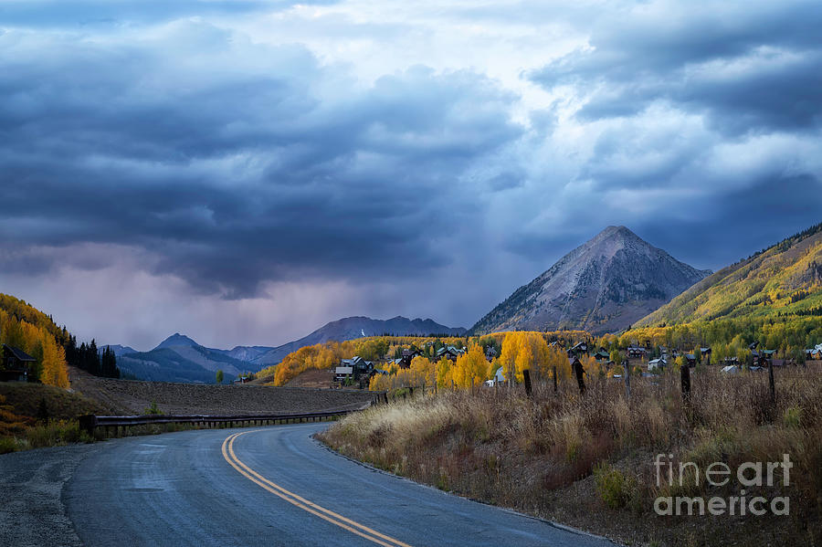 Stormy Clouds over Gothic Mountain in Crested Butte Colorado by Ronda Kimbrow