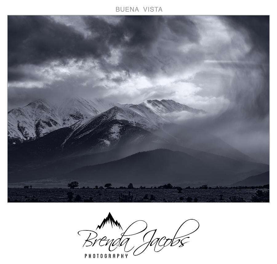 Stormy Mount Princeton by Brenda Jacobs
