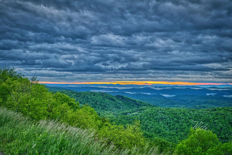 Stormy Parkway Sunrise by Meta Gatschenberger