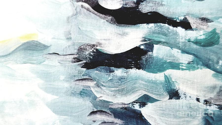 Stormy Sea Painting - Stormy Sea by Maria Langgle