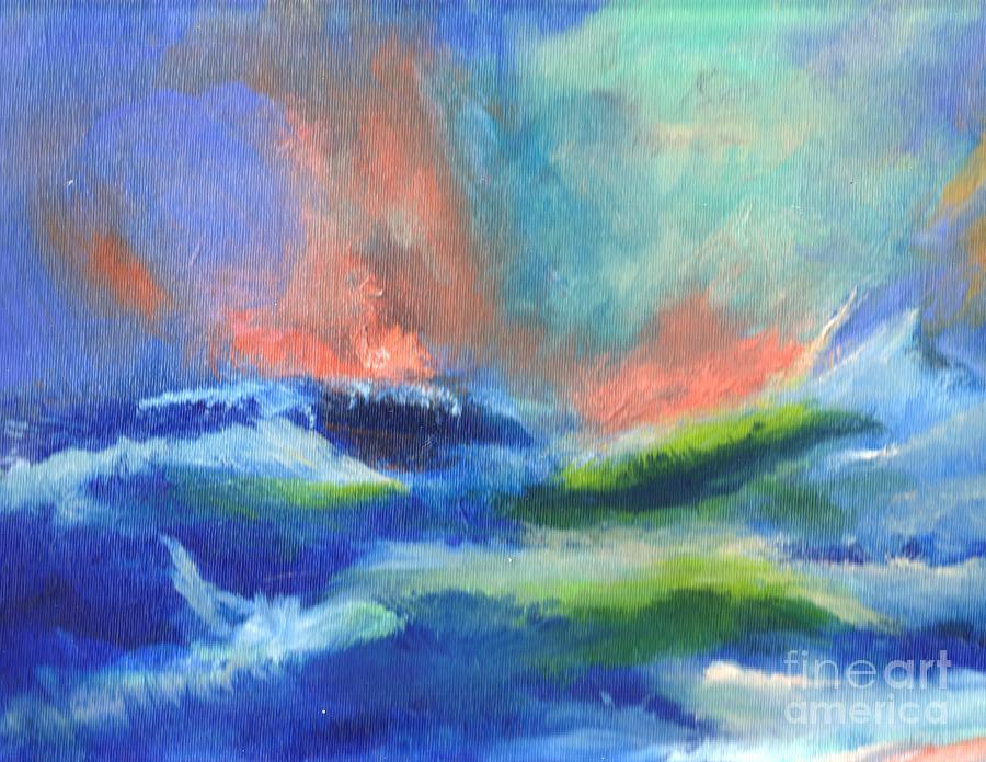 Stormy Seas at Hogs Head by Paul Thompson
