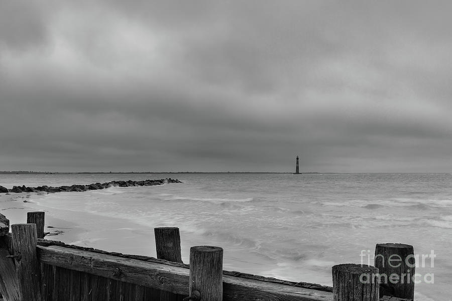 Stormy Seas - Morris Island Light In Charleston South Carolina Photograph