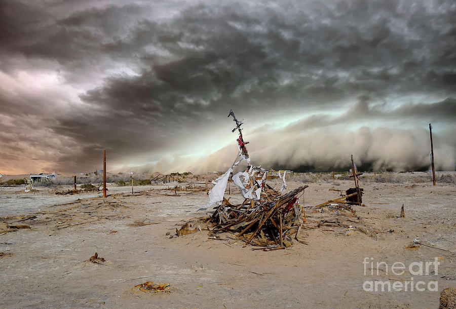 Storm Photograph - Stormy Ship by Sherry Little Fawn Schuessler