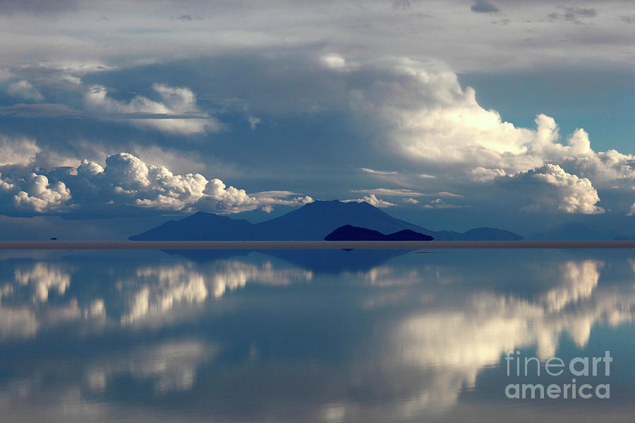 Stormy Skies Over the Salar de Uyuni Bolivia by James Brunker