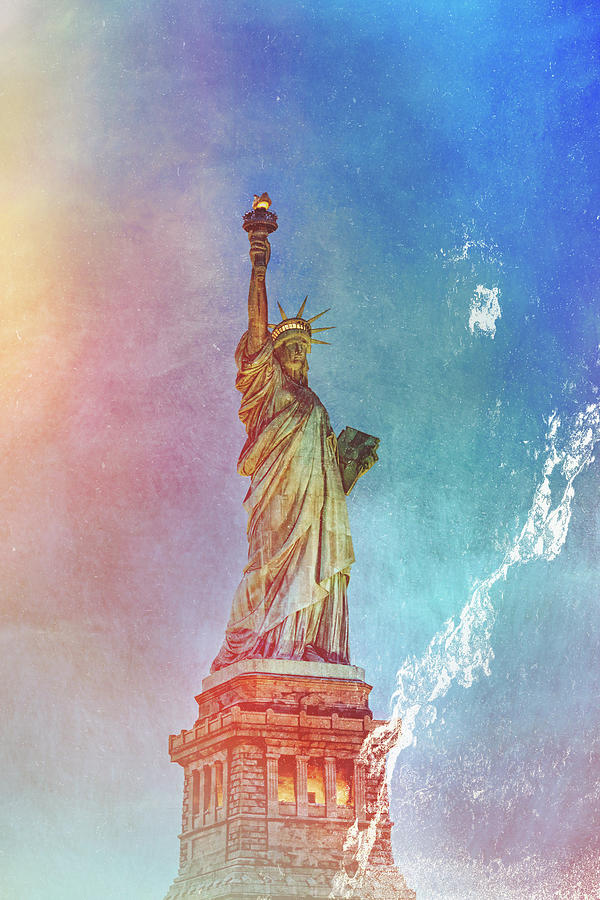 Stormy Statue of Liberty  by Kay Brewer