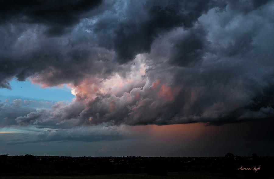 Stormy Sunset by Karen Slagle