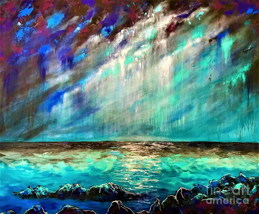 Stormy Weather  Painting by Allison Constantino