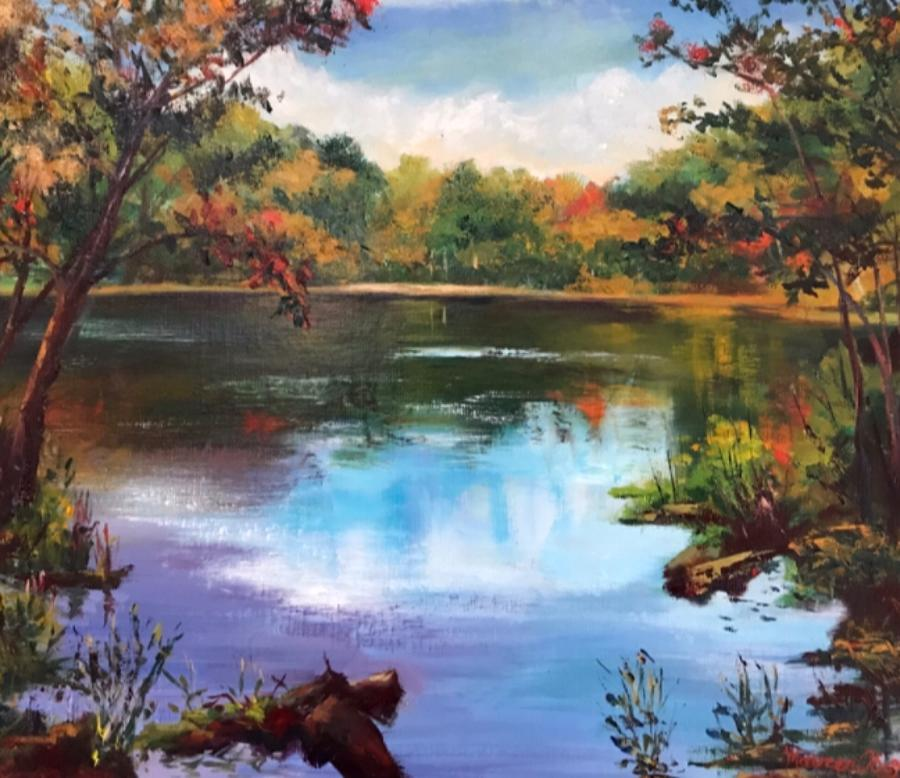 Storrow Pond, Hale by Maureen Obey