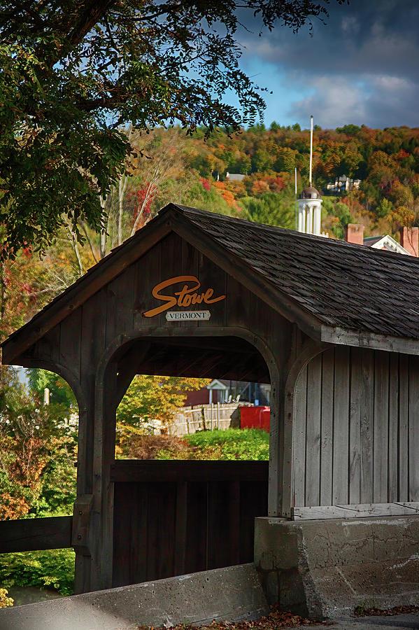 Stowe Vermont Walking Bridge by Jeff Folger