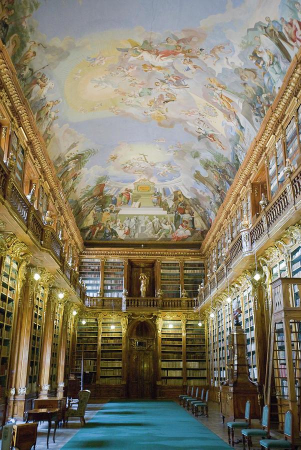 Ceiling Photograph - Strahov Library, Prague, Czech Republic by Gavin Gough
