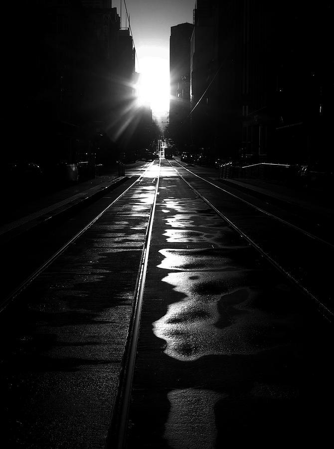 Tram Photograph - Straightlines by Reflexio