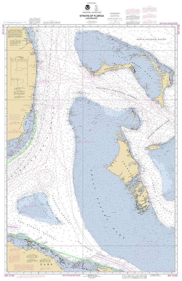 Straits of Florida, Eastern part NOAA Nautical Chart by Paul and Janice Russell