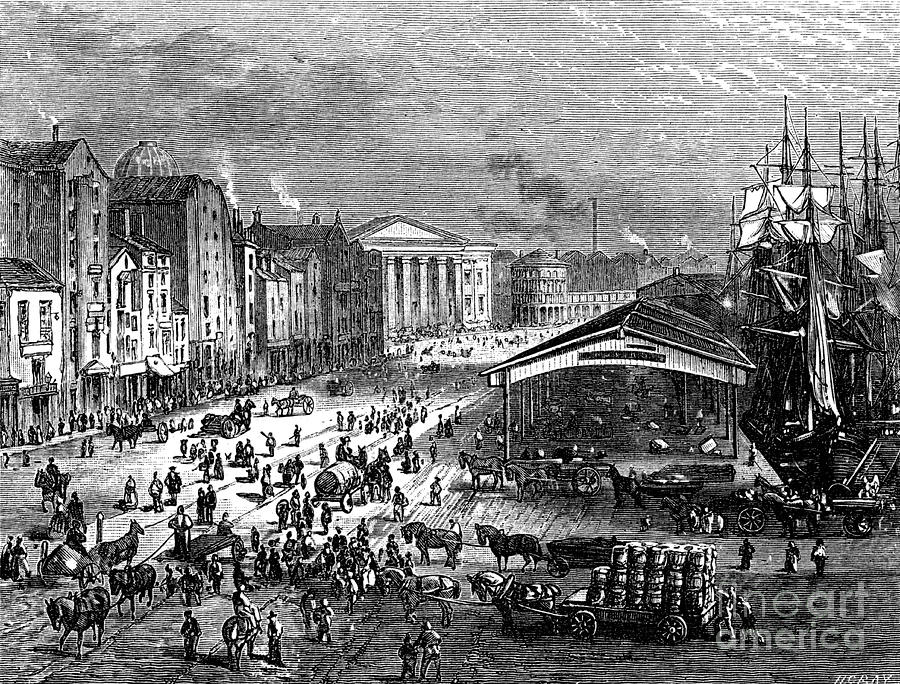Strand Street, Liverpool, C1880.artist Drawing by Print Collector