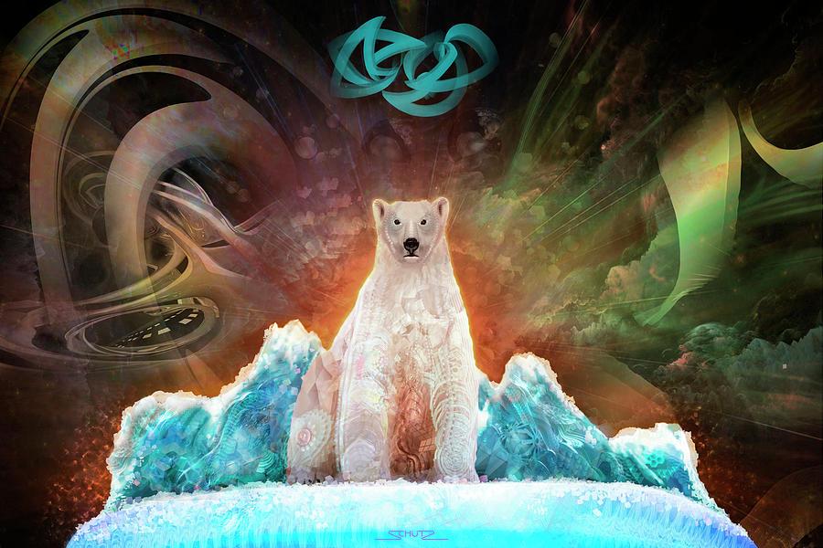 Endangered Painting - Stranded Polar Bear by Mushroom Dreams Visionary Art