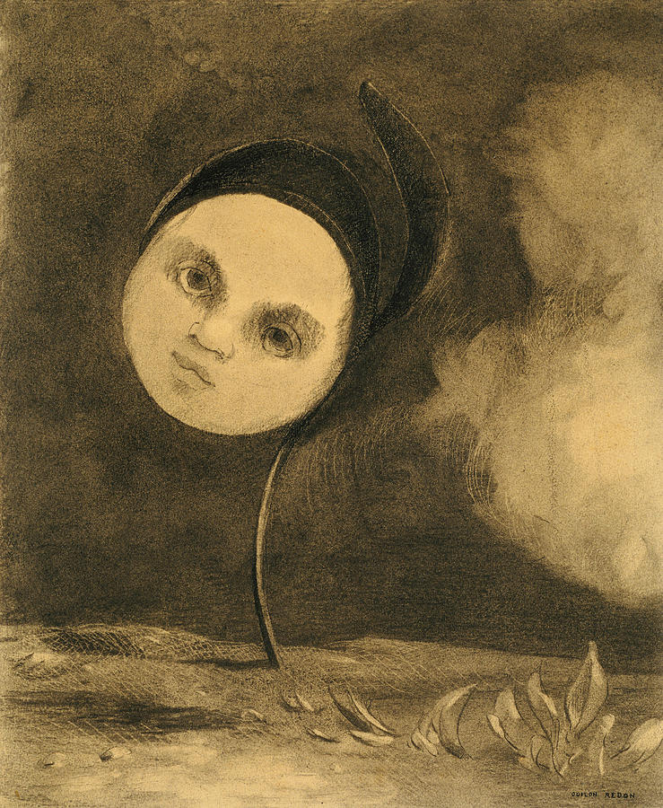 French Painters Photograph - Strange Flower  by Odilon Redon