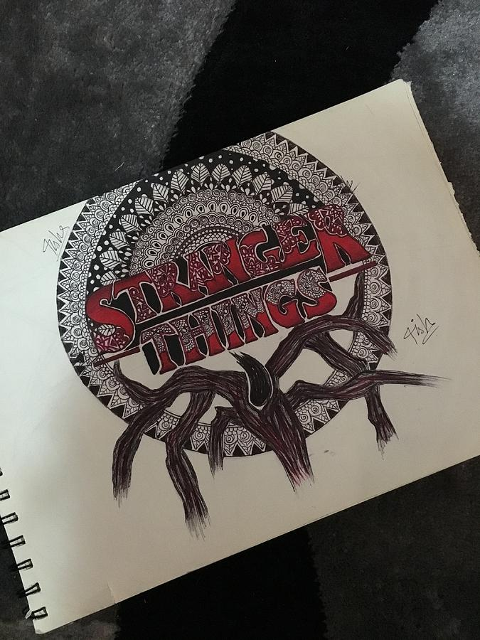 Stranger Things The Mind Flayer Drawing By Aiysha Saeed
