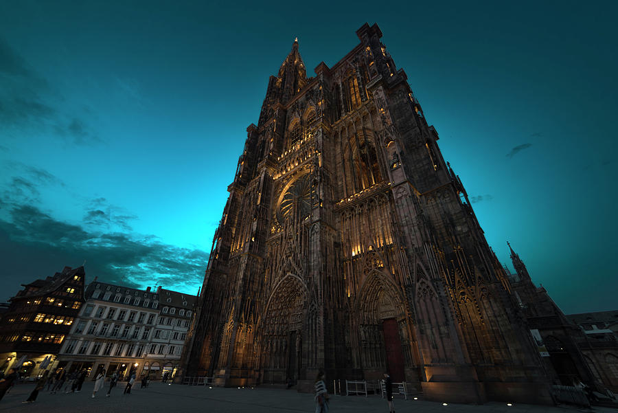 Strasbourg Cathedral at nightfall by RicardMN Photography