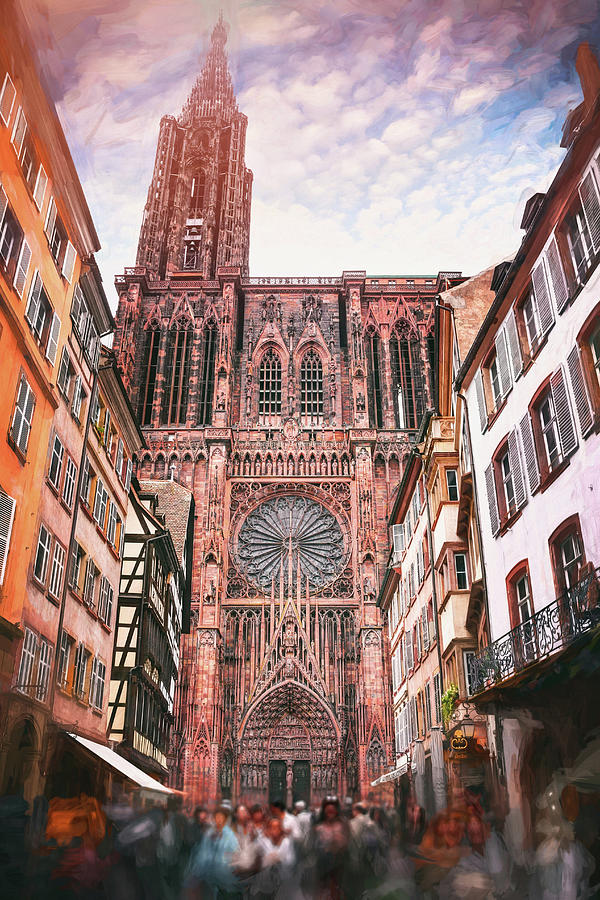 Strasbourg Cathedral France Photograph