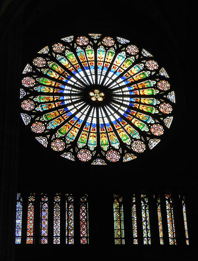Strasbourg Cathedral Stained Glass Window by Emmy Marie Vickers