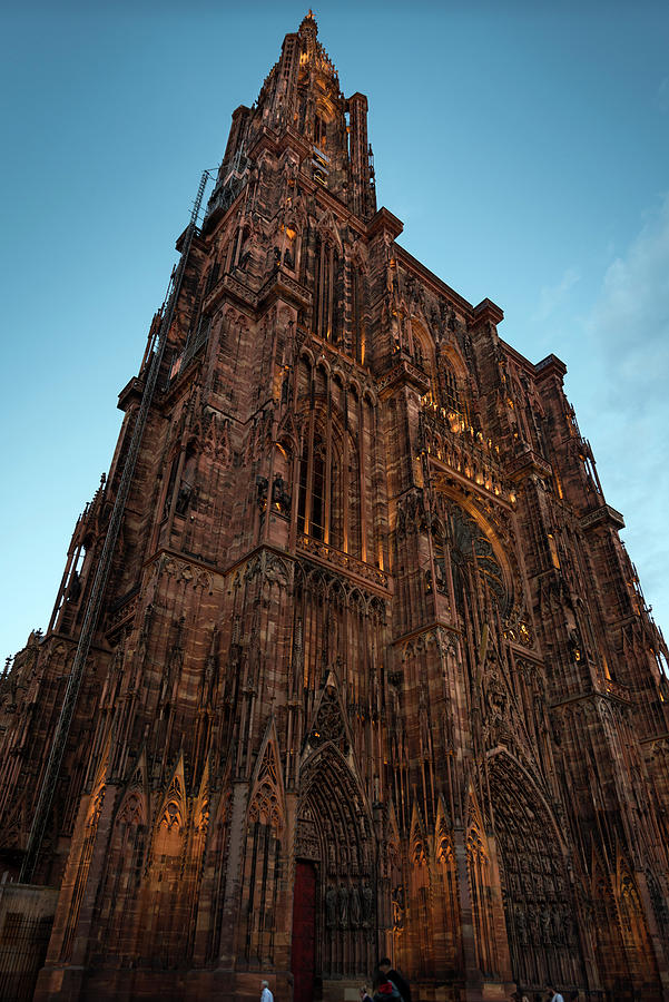 Strasbourg Cathedral's West Facade at nightfall by RicardMN Photography