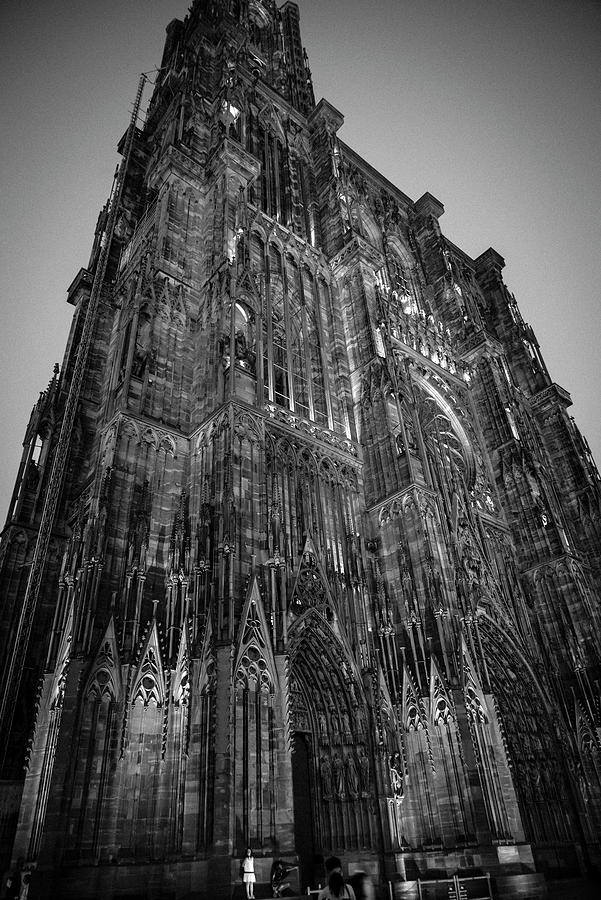 Strasbourg Cathedral's west facade BW by RicardMN Photography