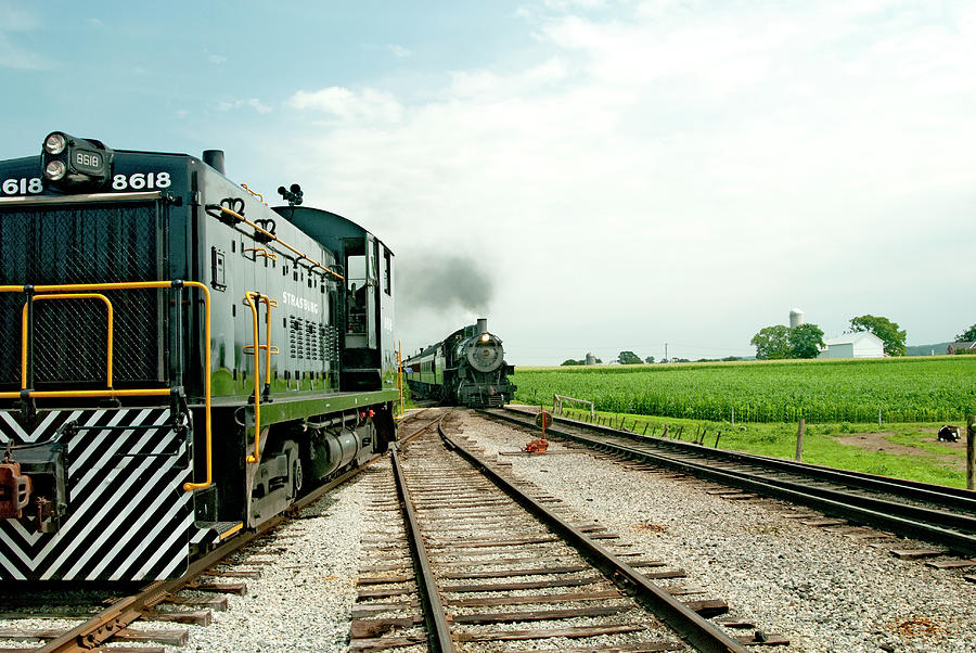 Prr Photograph - Strasburg Express Opn Way Home by Paul W Faust - Impressions of Light
