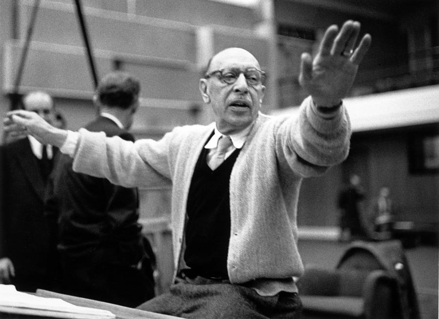 Stravinsky Conducts Photograph by Erich Auerbach
