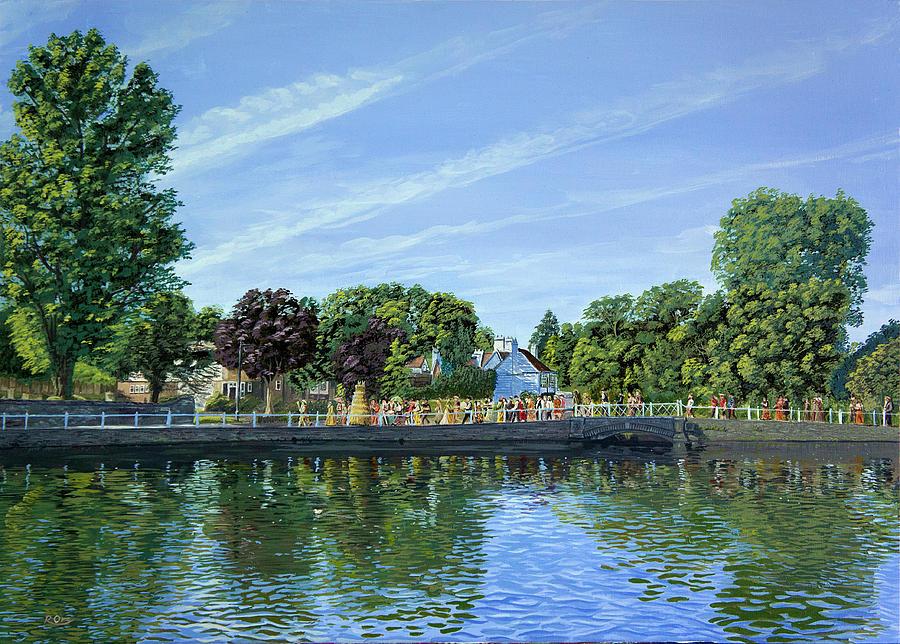 Water Painting - Straw Jack Carshalton by Raymond Ore
