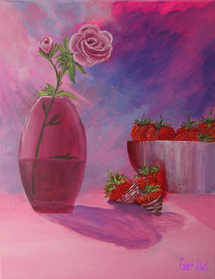 Strawberries and Roses by Robert Clark