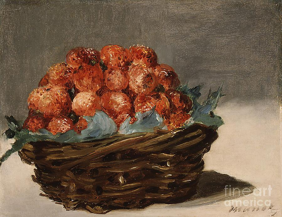 Strawberries Drawing by Heritage Images