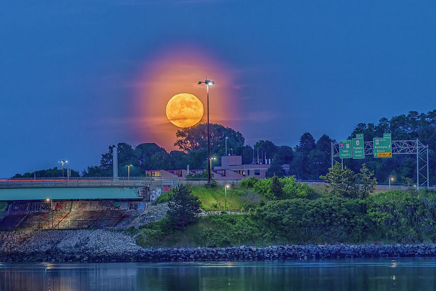 Strawberry Moon Photograph - Strawberry Moon by Bob Doucette