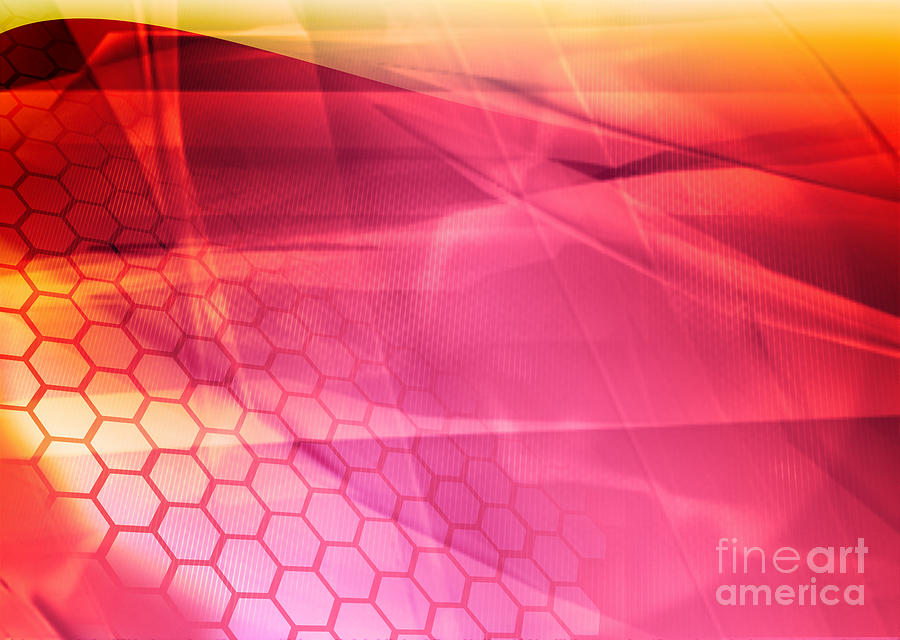 Curve Digital Art - Streams Of Light Abstract Cool Waves by Ilolab